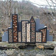 Bee City - garden accessories  Designer residence for garden bugs.