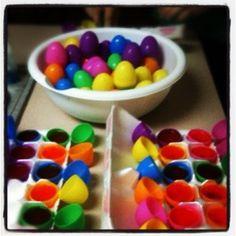 adult easter egg hunt! jello shots in easter eggs!