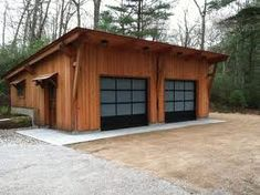 I like the look of this timber frame garage