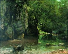 The Shaded Stream at the Puits-Noir by Gustave Courbet (realistic, isn't it??)