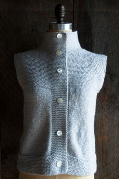 The Purl Bee  | Laura's Loop, Purl Soho's Cardigan/ Vest pattern available for purchase | lovely and simple