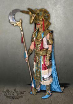 Traje de estilo egipcio en alquiler Anubis, Princess Zelda, Character, Egyptian Costume, Suits, Style, Lettering