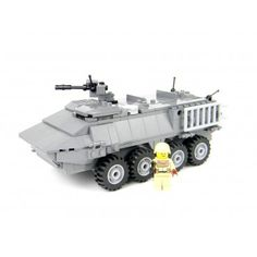 Army Stryker Tank Made With Real LEGO(R) Bricks. To purchase or for a compete description visit http://www.battlebrickcustoms.com/custom-lego-sets/army-stryker-tank.html