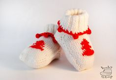 White Christmas baby socks creative Christmas от BabyStepStore