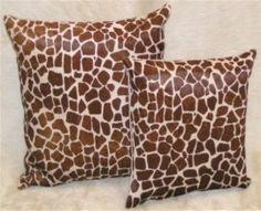Custom order throw pillows in natural patterns and stenciled animal prints Giraffe Print, Zebra Print, Cowhide Pillows, Couch Pillows, Animal Print Fashion, Leopard Animal, Home Decor Shops, Cow Hide Rug, Decorative Throw Pillows