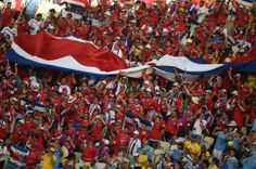 Aficion Tica, Partido Costa Rica - Uruguay, Mundial Fútbol Brasil 2014