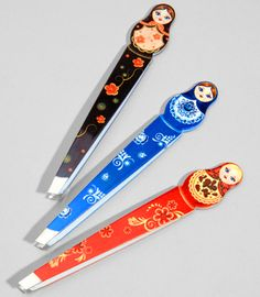 Cute Gift...paired with nail polish, manicure brush, hand loofah...these cute Babushka tweezers $5.00