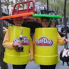 21 Unusual Halloween Costumes You Can Make Unusual Halloween Costumes You Can Make Yourselfas Play-Doh. 21 Unusual Halloween Costumes You Can Make Unusual Halloween Costumes You Can Make Yourself Halloween Costume Diy, Halloween Mono, Halloween Costumes You Can Make, Easy Diy Costumes, Couple Halloween, Easy Halloween, Holidays Halloween, Cool Costumes, Halloween Party