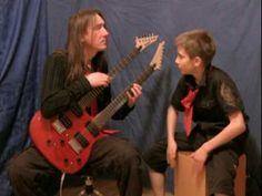 "This is MUPPET SHOW ;))) pARTyzant & his 13 years old son play MUPPET SHOW intro theme . pARTyzant use his signature guitar MENSINGER MONSTER  Mikołaj Toczko plays the cajon. This interesting instrument is made by ""Schlagwerk"""