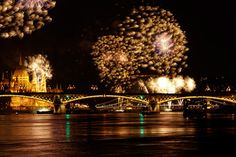 New Year's Eve fireworks over the Danube, Budapest. Photo by iStock