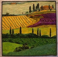 Tuscan Country, an art quilt by Lenore Crawford