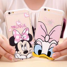 2015 Cartoon Daisy Minnie Mickey Duck Soft Case For Apple iPhone 5 6 6 plus inch