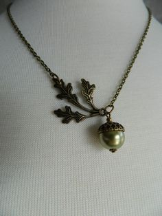 NEW LIFE  Acorn Necklace by Changing by ChangingSeasonsGifts, $32.00