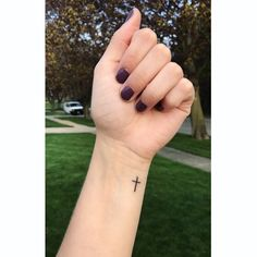 Small Cross Tattoo On Wrist Bodymod Pinterest Tattoos
