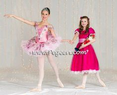 NUTCRACKER SUITE CLARA DRESS IN RASPBERRY PINK WITH COLORED TULLE