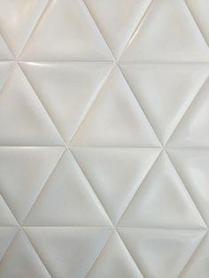 Elvida triangular shaped white tiles from Vives