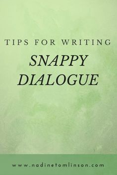 Writing Snappy Dialogue | In this guest post by Rayne Hall, she provides tips for writing snappy dialogue. Click through to read the post and learn how to craft believable dialogue that will grab your readers' attention. | #ontheblog #writers #writing #writingtips #dialogue #characters