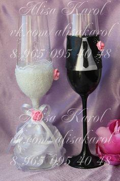 verres mariage flûtes de mariage en costume de par AlisaKarol