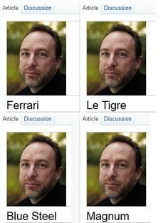 the many looks of Jimmy Wales