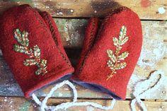 Red Woolen Mittens