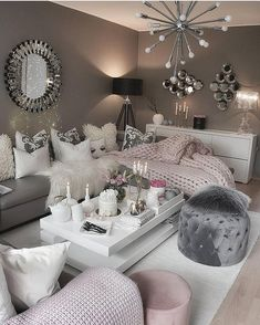 Cozy Living Room For Your Home - Living Room Design Living Room Decor On A Budget, Cozy Living Rooms, Living Room Grey, Home Living Room, Room Decor Bedroom, Apartment Living, Interior Design Living Room, Living Room Designs, Grey Wallpaper Living Room