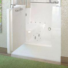 Walk in tub shower combo walk in tub walk in bathtubs - Handicap bathtub shower combo ...