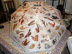 Antique Pipes Folding Umbrella