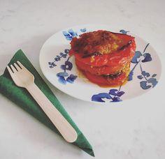 Γεμιστές πιπεριές με αμάρανθο, <br>κόκκινες φακές και καλαμπόκι