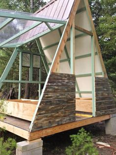 Now You Can Build ANY Shed In A Weekend Even If You've Zero Woodworking Experience! Start building amazing sheds the easier way with a collection of shed plans! Tiny Cabins, Tiny House Cabin, Tiny House Living, Log Cabins, A Frame Cabin, A Frame House, She Sheds, Shed Plans, Cabins In The Woods
