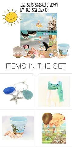 """she sells seashells down by the seashore!"" by sheila-ball ❤ liked on Polyvore featuring art and etsyevolution"