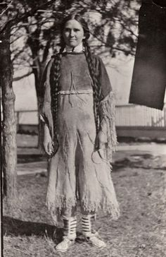 """Native American girl from the Ponca Tribe.Under Indian Removal, from 1877 to 1880 """"Out of 700 Ponca who left the Nebraska reservation, 158 died in Oklahoma within two years."""" With the aid of prominent attorneys working pro bono, Standing Bear filed a writ of habeas corpus challenging his arrest. The case of Standing Bear v. Crook (1879) was a landmark decision in the US District Court, where the judge ruled that Indians had the same legal rights as other United States citizens. (wikipedia)"""