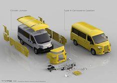 Citroen Ds, Citroen Type H, Citroen Concept, Transit Camper, Mini Trucks, Unique Cars, Kit Cars, Rally Car, Car Humor