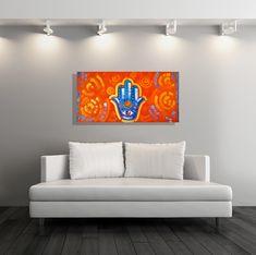 hamsa hand art for sale in miami by famous miami artist laelanie larach. Honduras art sale. Abstract Art For Sale, Hand Art, Hamsa Hand, Modern Art, Miami, Artist, Artwork, Furniture, Home Decor