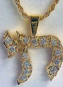 Elvis' necklace, I have been informed that this is  a Jewish Chi, a symbol of life. Thanks for the info Jo.