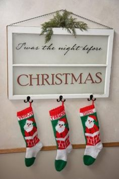 Another great stocking idea for those of us with no fireplace/mantle.