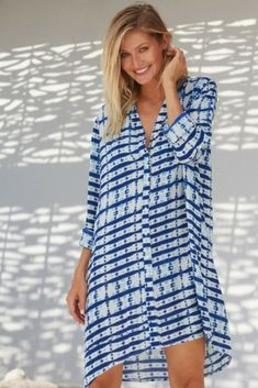 17a13fbadd MILA SHIRT TUNIC MUSTIQUE PRINT This relaxed beach shirt