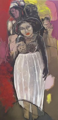 Mona Nahleh 'Walking With The Wise' 100x200cm - 2016