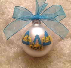Tri Delta Ornament - Sorority custom ornaments!!  Adorable!!