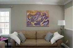 modern painting on canvas, original canvas art abstract art, modern home decor purple original canvas, abstract painting canvas artwork Painting Abstract, Acrylic Painting Canvas, Canvas Artwork, Purple Yellow, Dark Purple, Pink, Vibrant Colors, Colours, Modern Art Paintings