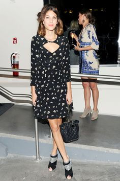 Alexa Chung wearing Rebecca Taylor (a dress that keeps making my wallet itch.)