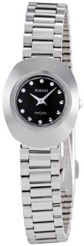 Women's Wrist Watches - Rado Original Black Diamond Dial Stainless Steel Ladies Watch R12558153 >>> Want additional info? Click on the image.