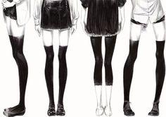 Картинки по запросу аниме ноги