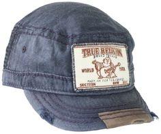 83b7d96a50a True Religion Men s Linen Legion Cap