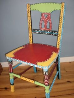 Hand Painted Whimsical Chair Gypsy