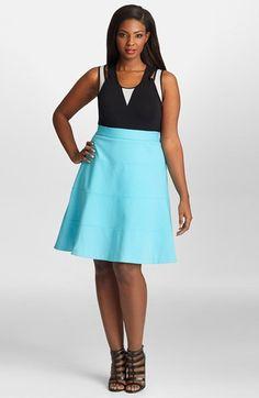 Mynt 1792 A-Line Ponte Skirt (Plus Size) | Nordstrom