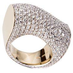 "Vhernier ""Onda Piccolo"" diamond ring"