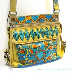 painted leather purse tutorial