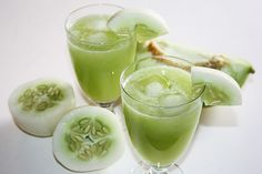 A Mouthwatering, Refreshing Cucumber Melon Juice