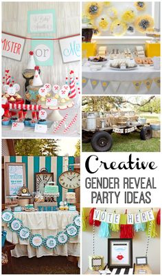 Need ideas for a gender reveal party? Check out these Super Creative Gender Reveal Parties
