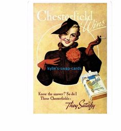 Y71 SINGLE swap playing cards VINTAGE style lady CIGARETTE SMOKING ADVERT